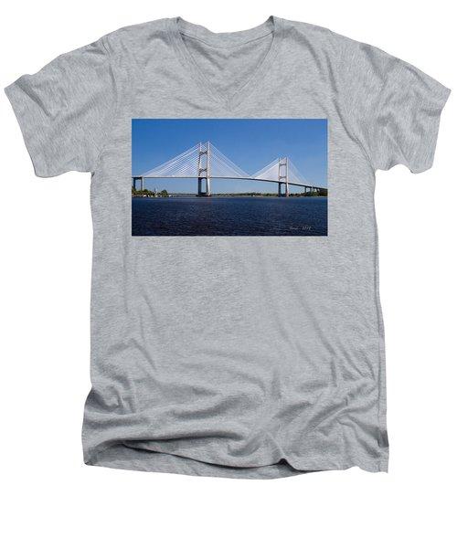 Dames Point Bridge Men's V-Neck T-Shirt