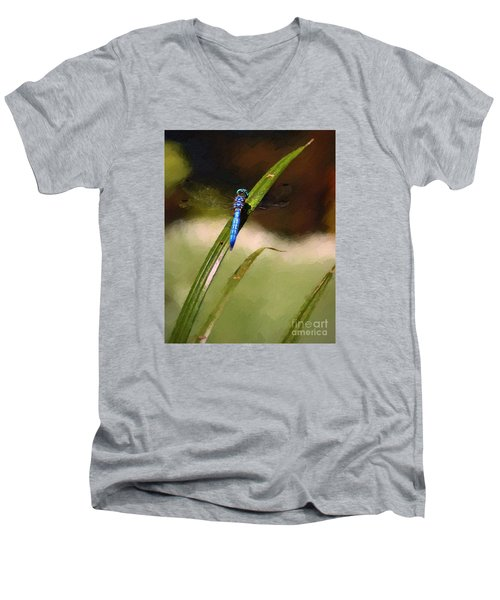 Men's V-Neck T-Shirt featuring the photograph Damsel by John  Kolenberg