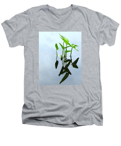 Damselfly In The Mirror Men's V-Neck T-Shirt