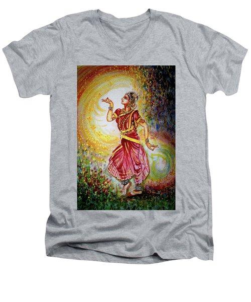 Dance Men's V-Neck T-Shirt by Harsh Malik