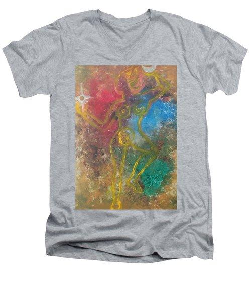 Dance Of Creation Men's V-Neck T-Shirt