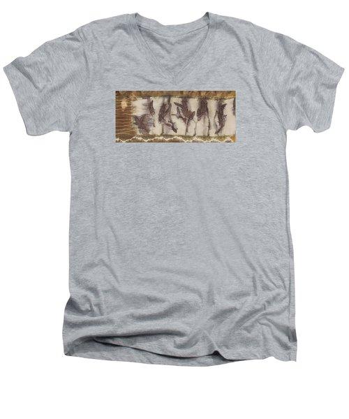 Dance Of The Eucalyptus Leaves Men's V-Neck T-Shirt by Carolyn Doe