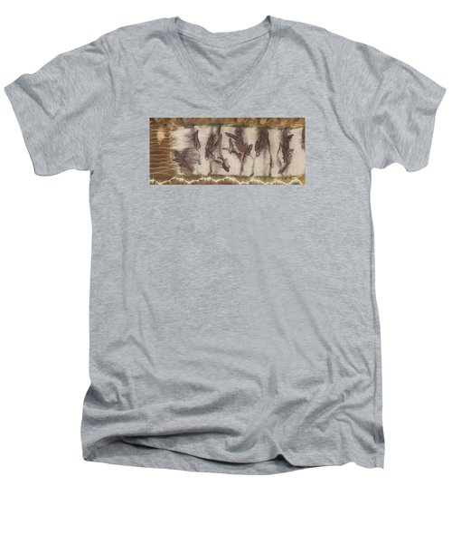 Dance Of The Eucalyptus Leaves Men's V-Neck T-Shirt