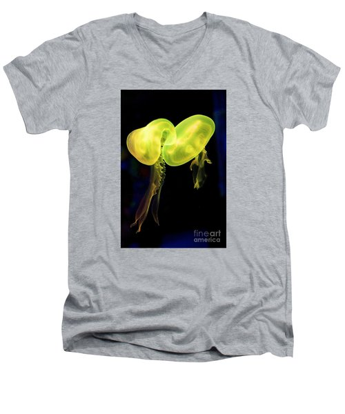 Men's V-Neck T-Shirt featuring the photograph Dance Of The Jellies by Gary Bridger