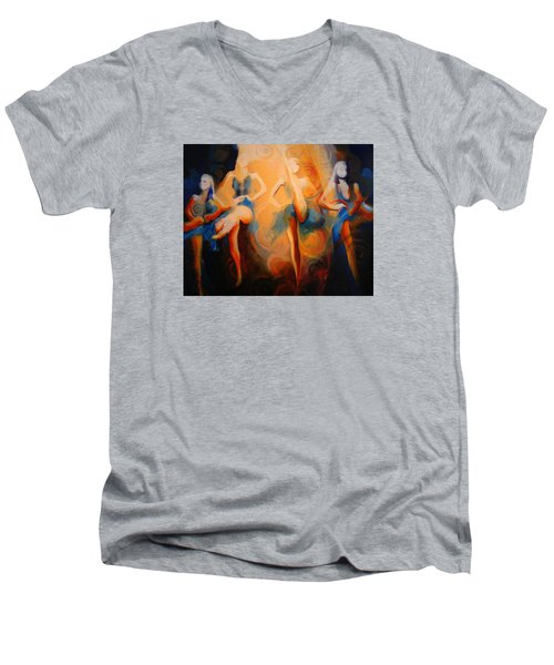 Dance Of The Sidheog Men's V-Neck T-Shirt