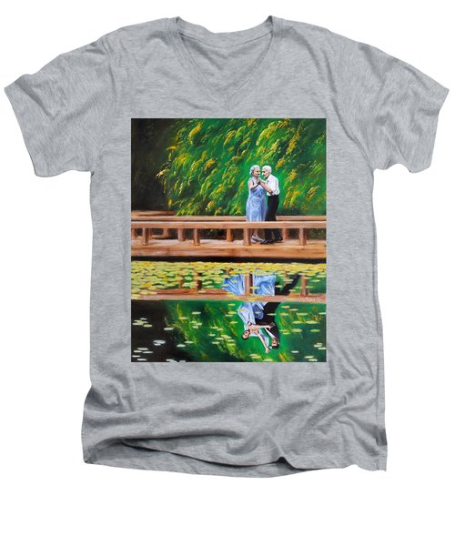 Dance Reflection Men's V-Neck T-Shirt