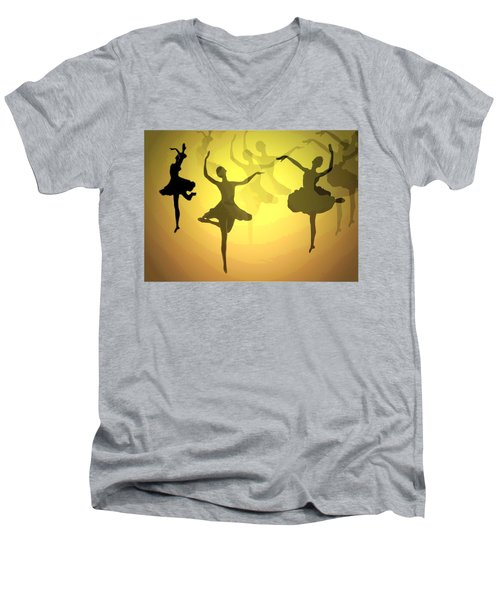 Men's V-Neck T-Shirt featuring the photograph Dance With Us Into The Light by Joyce Dickens