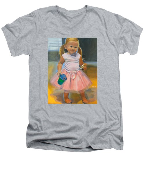 Dancer With Sippy Cup Men's V-Neck T-Shirt by Kaytee Esser