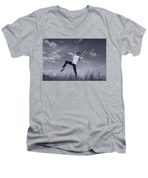 Dancing At The Beach Men's V-Neck T-Shirt