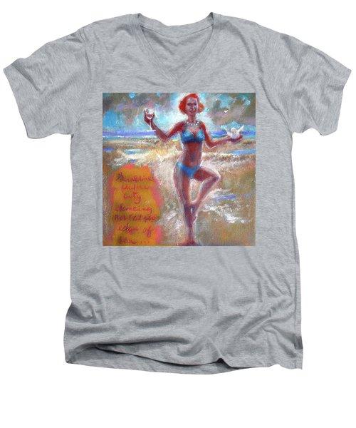 Dancing At The Edge Men's V-Neck T-Shirt