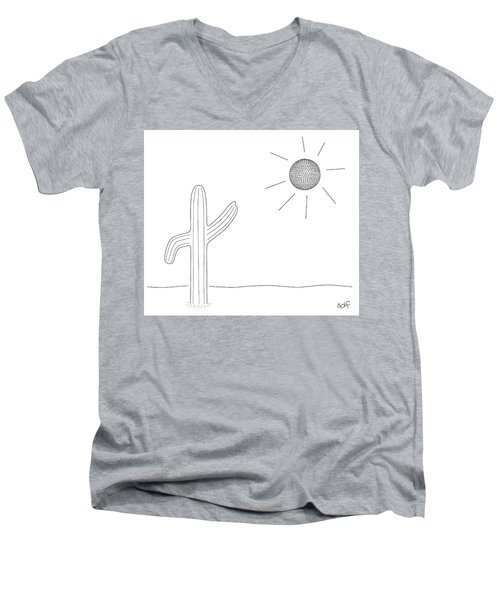 Dancing Cacti Men's V-Neck T-Shirt