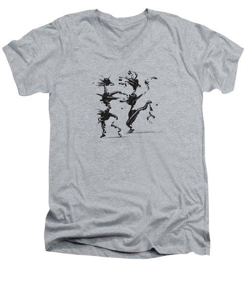 Dancing Couple 4 Men's V-Neck T-Shirt