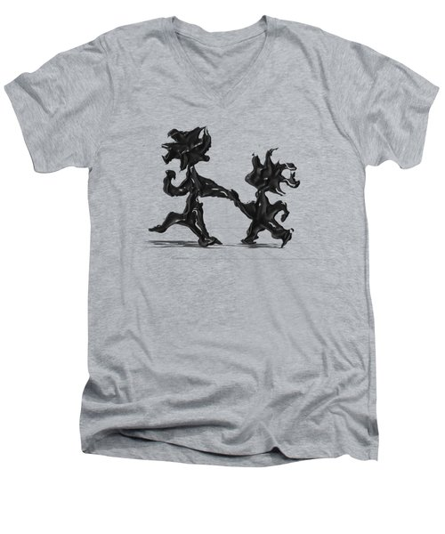 Dancing Couple 6 Men's V-Neck T-Shirt