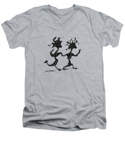Dancing Couple 7 Men's V-Neck T-Shirt