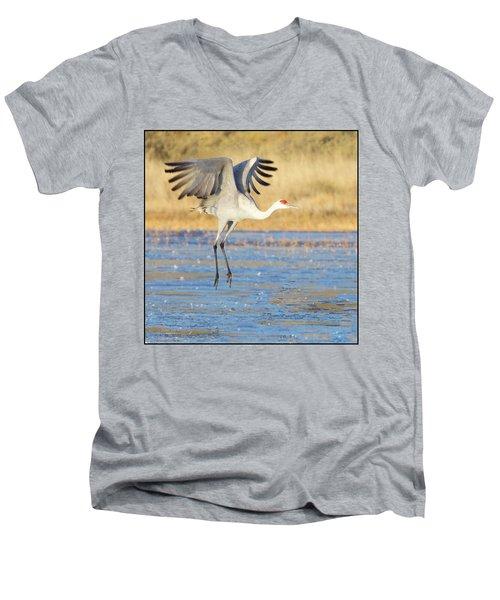 Dancing Crane Men's V-Neck T-Shirt
