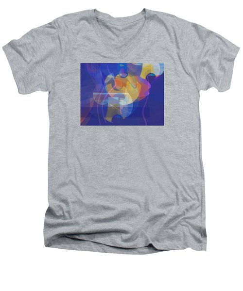Dancing Days Men's V-Neck T-Shirt by David Klaboe