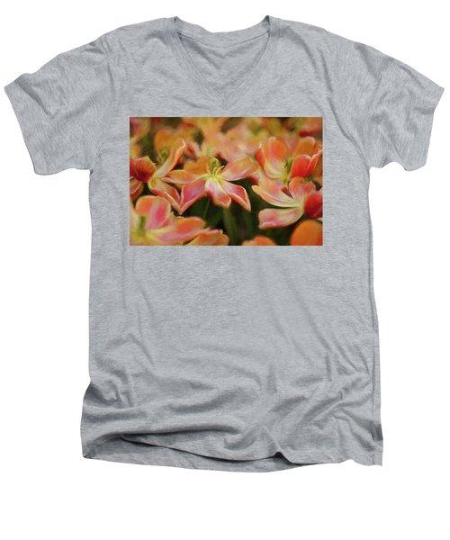 Dancing Flowers Men's V-Neck T-Shirt