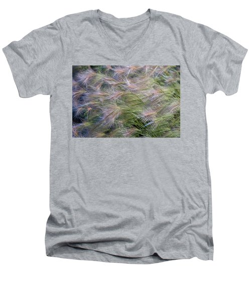 Dancing Foxtail Grass Men's V-Neck T-Shirt