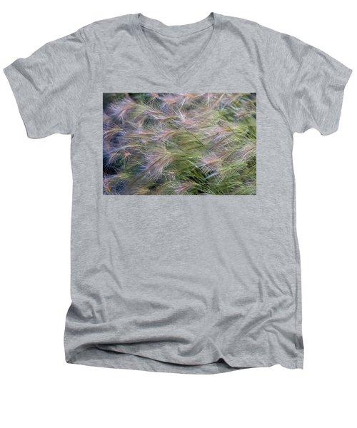 Dancing Foxtail Grass Men's V-Neck T-Shirt