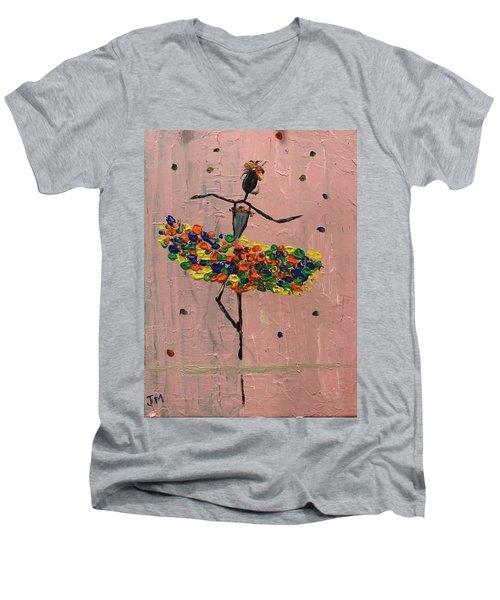 Dancing Girl Men's V-Neck T-Shirt