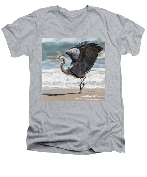 Dancing Heron #2/3 Men's V-Neck T-Shirt