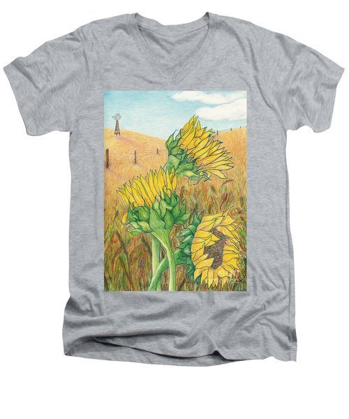 Dancing In The Breeze  Men's V-Neck T-Shirt