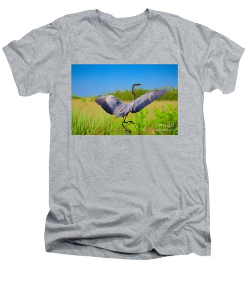 Dancing In The Glades Men's V-Neck T-Shirt