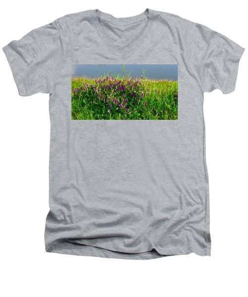 Dancing In The Meadow Men's V-Neck T-Shirt