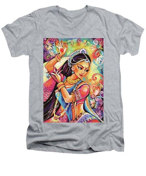 Dancing Of The Phoenix Men's V-Neck T-Shirt