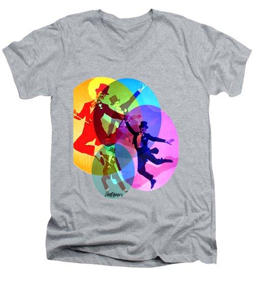 Dancing On Air Men's V-Neck T-Shirt by Seth Weaver