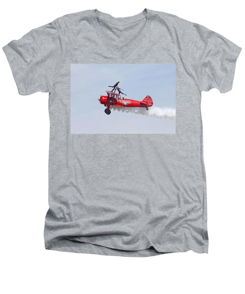 Dancing On The Wings Men's V-Neck T-Shirt by Shoal Hollingsworth