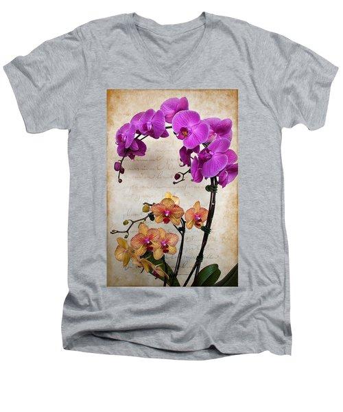 Dancing Orchids Men's V-Neck T-Shirt