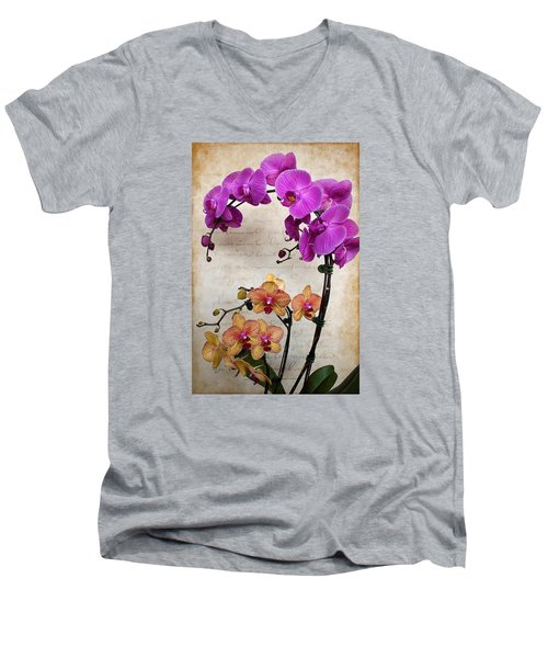 Dancing Orchids Men's V-Neck T-Shirt