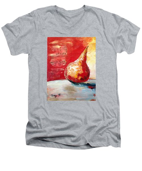 Dancing Pear Men's V-Neck T-Shirt by Roxy Rich