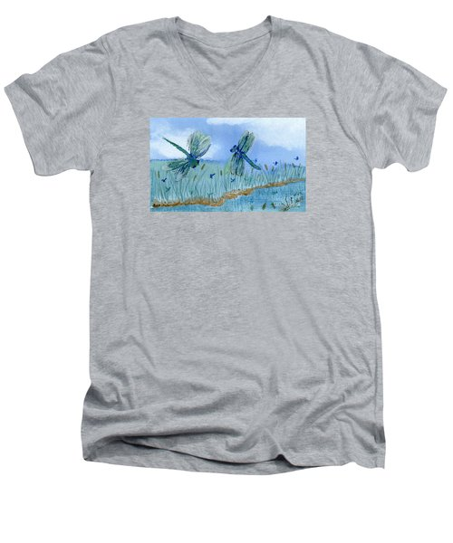 Dancing Skies Men's V-Neck T-Shirt