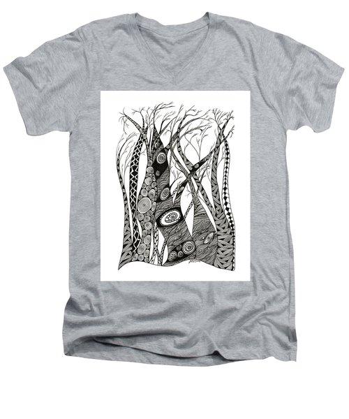 Dancing Trees Men's V-Neck T-Shirt