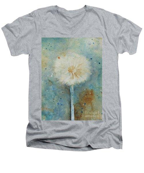 Dandelion Clock 2 Men's V-Neck T-Shirt