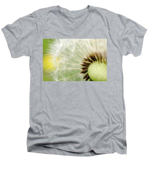 Dandelion Fluff Men's V-Neck T-Shirt by Rainer Kersten