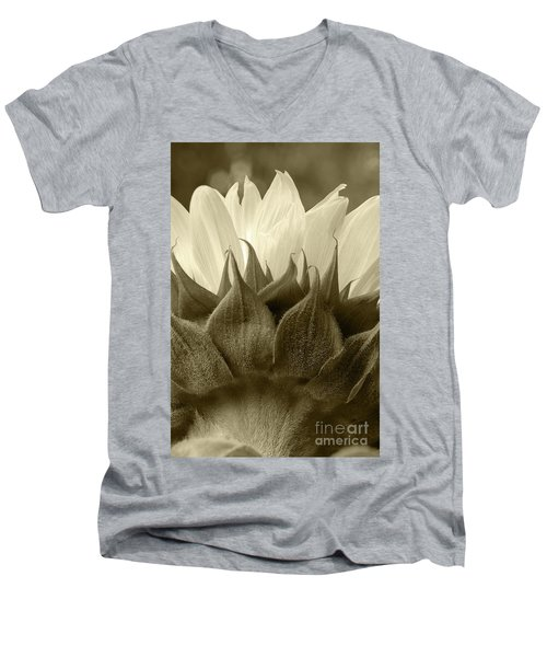 Dandelion In Sepia Men's V-Neck T-Shirt