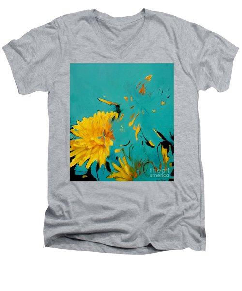 Dandelion Summer Men's V-Neck T-Shirt