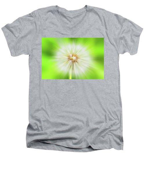 Dandelion Warp Men's V-Neck T-Shirt by David Stasiak