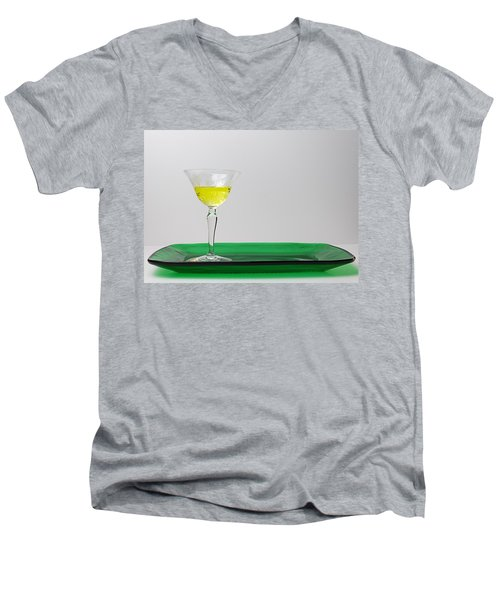 Men's V-Neck T-Shirt featuring the photograph Dandelion Wine by Susan Capuano