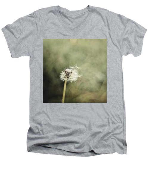 Dandelion  #lensbaby #composerpro Men's V-Neck T-Shirt by Mandy Tabatt