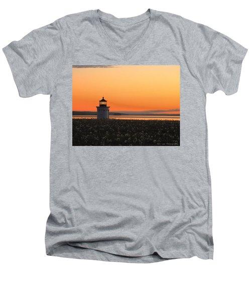 Dandelions At Sunrise Men's V-Neck T-Shirt