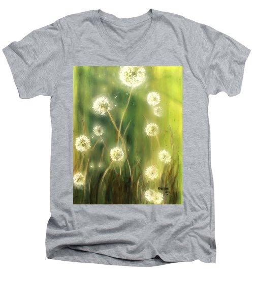 Dandelions Men's V-Neck T-Shirt