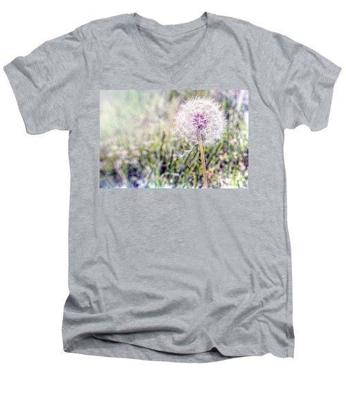 Dandilion Wishes Men's V-Neck T-Shirt