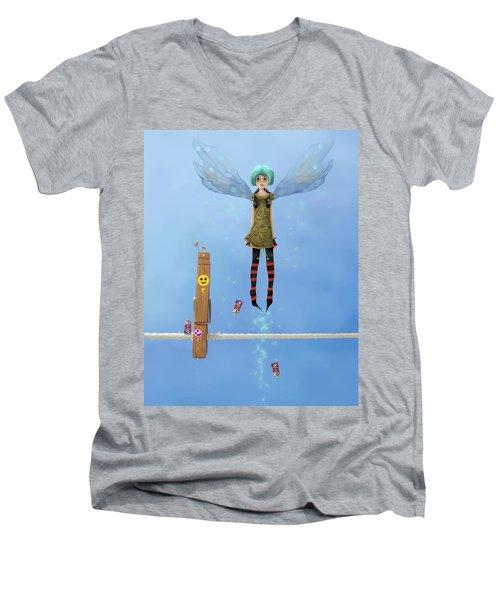 Danksy, Caught In The Act. Men's V-Neck T-Shirt