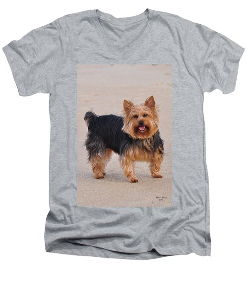 Dapper Dog Men's V-Neck T-Shirt