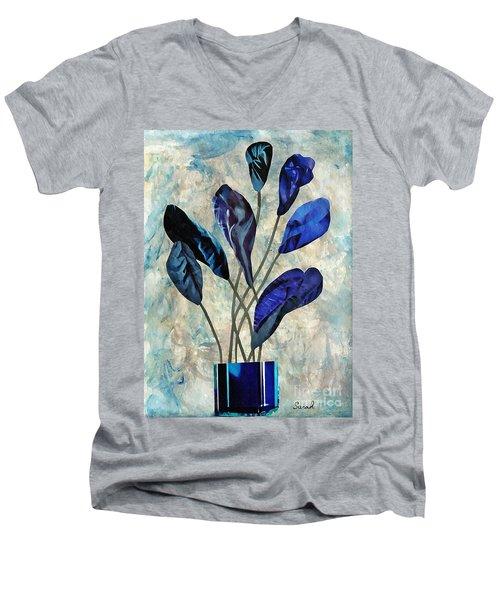 Dark Blue Men's V-Neck T-Shirt by Sarah Loft