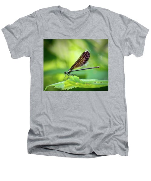 Men's V-Neck T-Shirt featuring the photograph Dark Damsel by Bill Pevlor